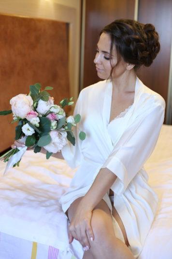 Макияж и причёска для невесты Екатерины