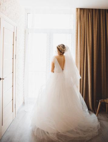 Причёска в свадебном образе Виктории
