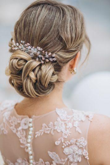 Причёска для невесты Анастасии