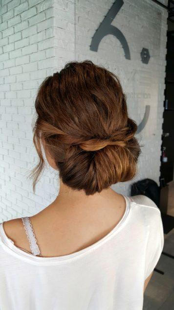 Причёска для выпускницы Натали